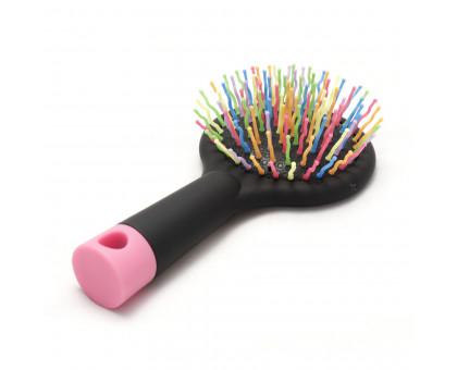 Расческа массажная для волос Salon с зеркалом, 15см