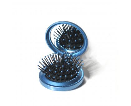 Складная массажная расческа для волос с зеркалом