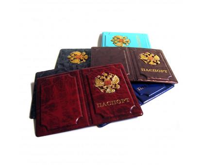Обложка на паспорт с объемным гербом России