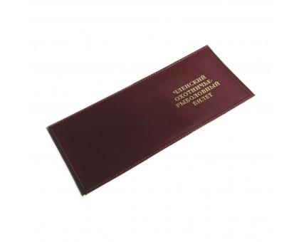 Обложка на охотничий билет из натуральной кожи