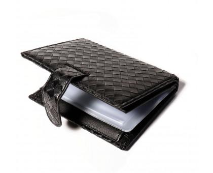 Мужской портмоне из искусственной кожи с файлом