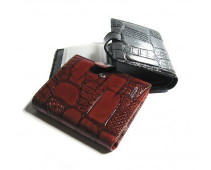 Мужской портмоне Monice 2в1 из натуральной кожи