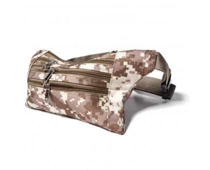 Поясная сумка мужская камуфляжная, обхват 100см.