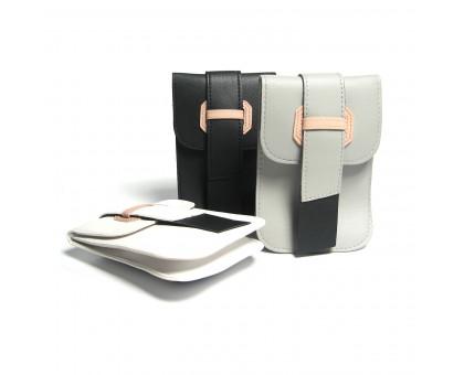 Женская сумка с ремешком из искусственной кожи