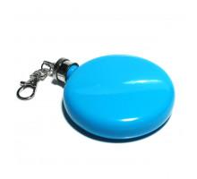 Плоская круглая цветная металлическая фляжка, 3 унции (88 мл)