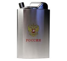 """Большая металлическая фляжка """"Россия"""", 3,71л"""
