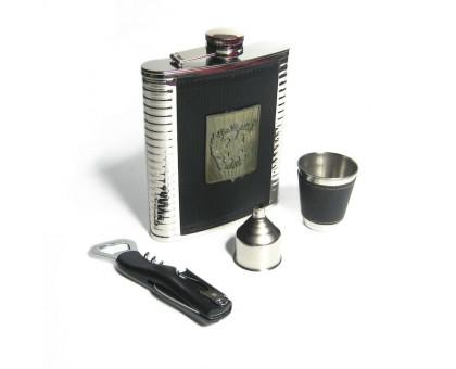 Набор с фляжкой (522мл),  стаканом, воронкой и штопором