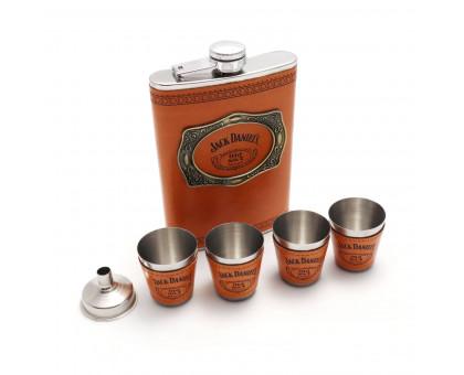 """Набор """"Jack Daniels"""" - фляжка (262мл), воронка и стаканчики"""