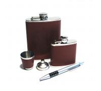 Набор с фляжками (262мл и 87мл), ручкой, стаканчиком и воронкой