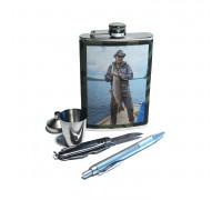 Набор для пикника - фляжка (262мл), стакан, воронка, нож, ручка