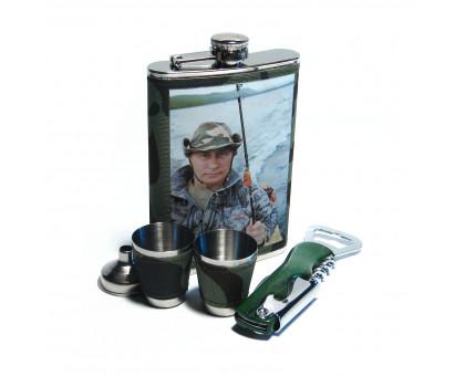 Набор для пикника - фляжка (262мл), стаканы, воронка, открывалка