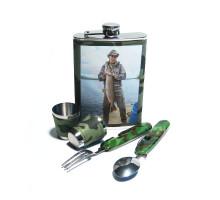 Набор для пикника - фляжка (262мл), стаканы, ложка и вилка