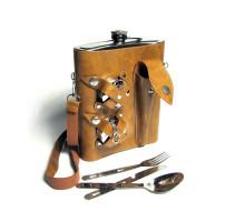 Набор с фляжкой (1392мл), складными стаканами, вилкой, ложкой и ножом