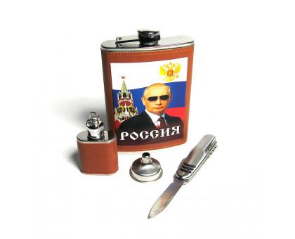 Набор с фляжкой (262мл), фляжкой-брелоком (29мл), воронкой и ножом
