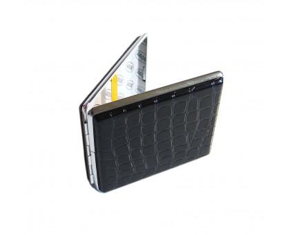 Портсигар металлический, вместимость 20 сигарет