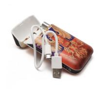 Портсигар с зажигалкой USB, вместимость 8 сигарет