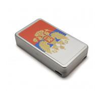 Портсигар алюминиевый с USB зажигалкой