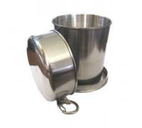 Экологичный складной металлический стакан, 150мл