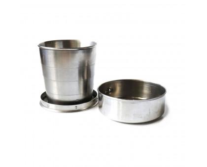 Экологичный складной металлический стакан, 240мл