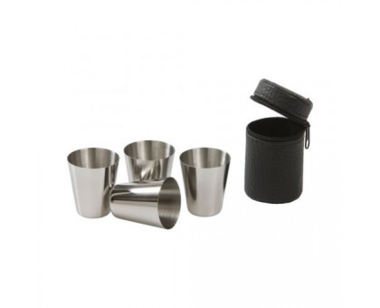 Набор металлических стаканов, 4х30мл