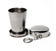 Экологичный складной металлический стакан, 70мл