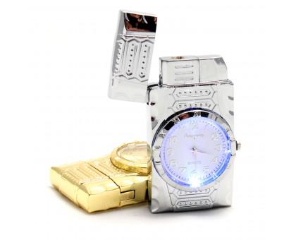Многоразовая газовая зажигалка с часами