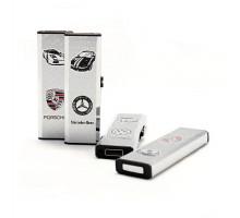 Зажигалка с USB-подзарядкой, автобренды