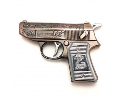 """Газовая зажигалка """"Пистолет"""" с лазерной указкой"""
