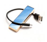 Зажигалка электронная с USB-подзарядкой, ассорти цветов