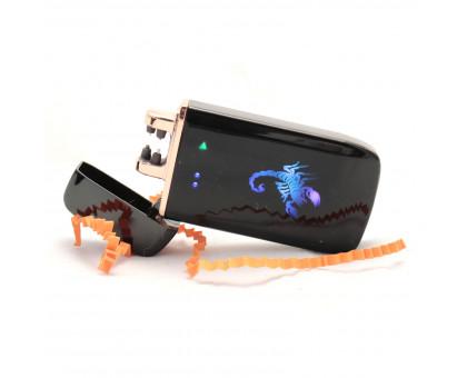 Зажигалка с USB-подзарядкой, LED-экраном, красной дугой