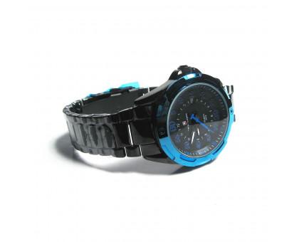 Мужские часы TwinBlades на черном металлическом браслете