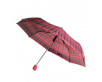 """Женский зонт, полуавтомат, 6 рисунков """"Клетка"""" в упаковке"""
