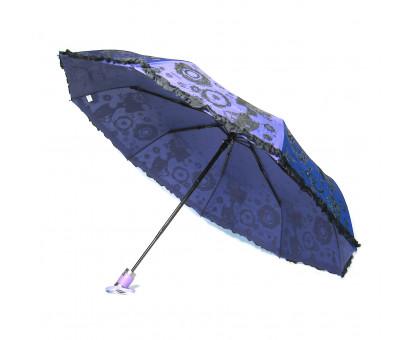 Женский зонт YuzonT с оборкой, автомат. 2 цвета в коробке.