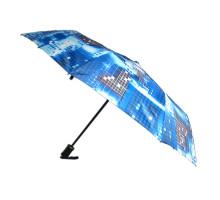 """Женский зонт, полуавтомат, 6 рисунков """"Пикселы"""" в упаковке"""