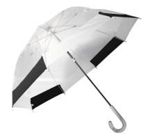 """Женский прозрачный механический зонт-трость """"Dolphin"""""""