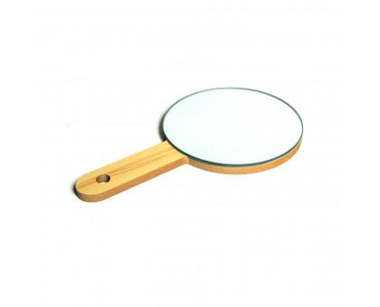 Зеркало настольное круглое с ручкой, d17,5см
